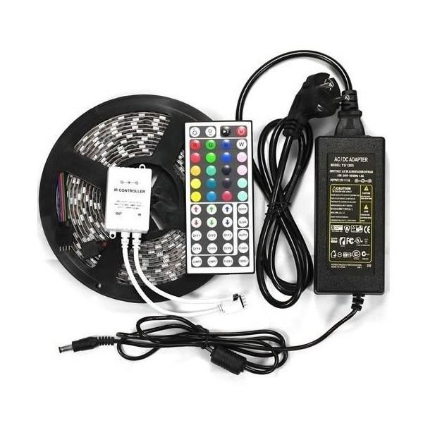 Kompletní 5m LED pásek RGB 5050